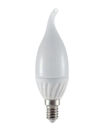 Led gyertya láng 6W E-14 meleg fehér
