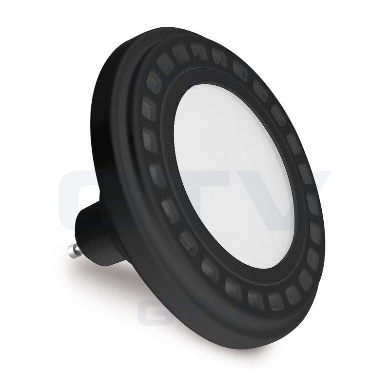 LED lámpa AR111  12W  120° 230V természetes fehér-fekete ház