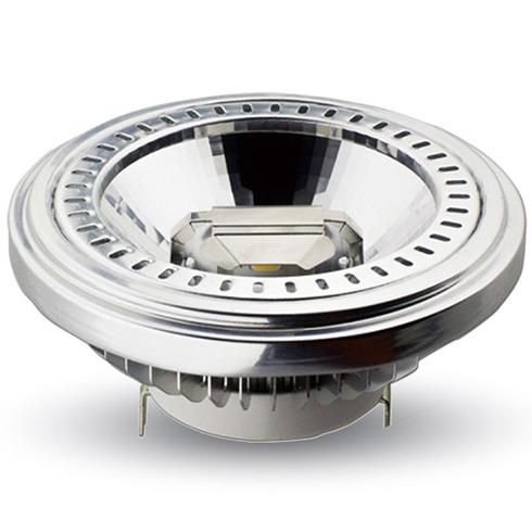 LED lámpa AR111 COB 15W  40° 12V meleg fehér