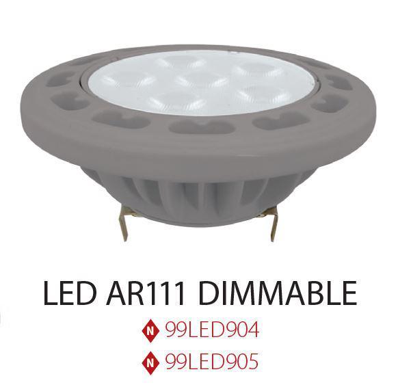 LED lámpa AR111  dimmelhető 11 W  36° 12V meleg fehér