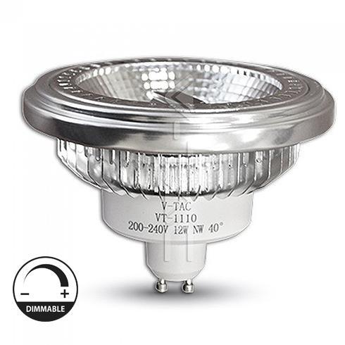LED lámpa AR111 dimmelhető  12W  40° 230V meleg fehér