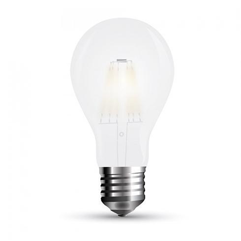 LED lámpa E27 Filament 9Watt 300° Körte opál hideg fehér