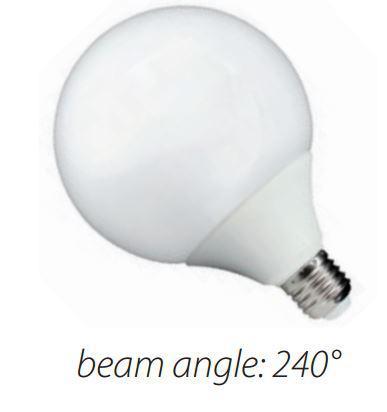 Led lámpa gömb 20W E-27 G120 meleg fehér