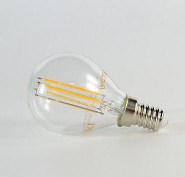 Led lámpa gömb 4W COG E-14 természetes fehér (ledszálas gömb)
