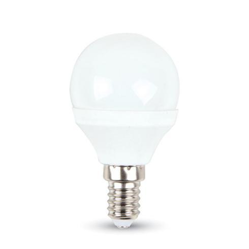 LED lámpa gömb E-14 5,5W hideg fehér