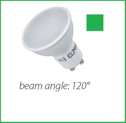 LED lámpa Gu-10 6W zöld
