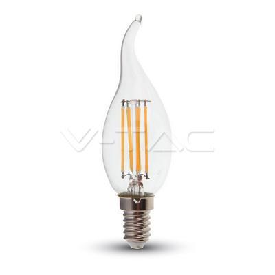 Led lámpa gyertya láng 4W COG E-14 természetes fehér(ledszálas gyertya)