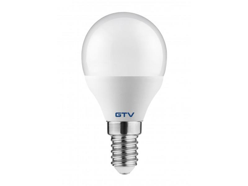 Led lámpa kisgömb E-14 8W meleg fehér