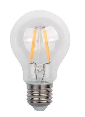 Led lámpa körte 4W COG E-27 opál (ledszálas normál izzó)