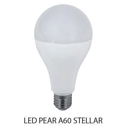 Led lámpa körte E-27 12W A60 meleg fehér Stellar