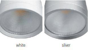 Led mélysugárzó 10W falon kívüli ezüst meleg fehér