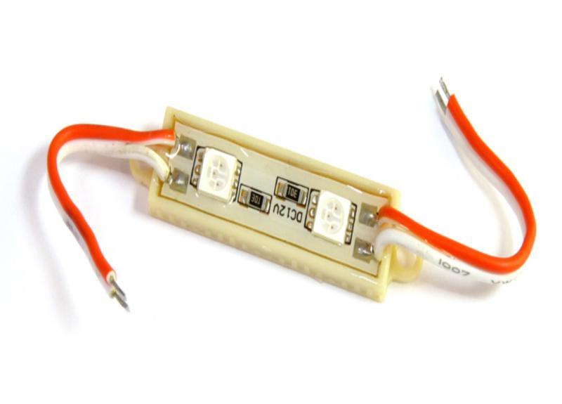 LED modul 0.5 Watt 2x5050 SMD LED piros