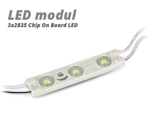 LED modul 1 Watt 3x2835 SMD LED piros