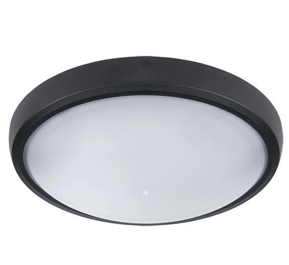 LED ovális lámpatest 12W 4000K fekete IP54
