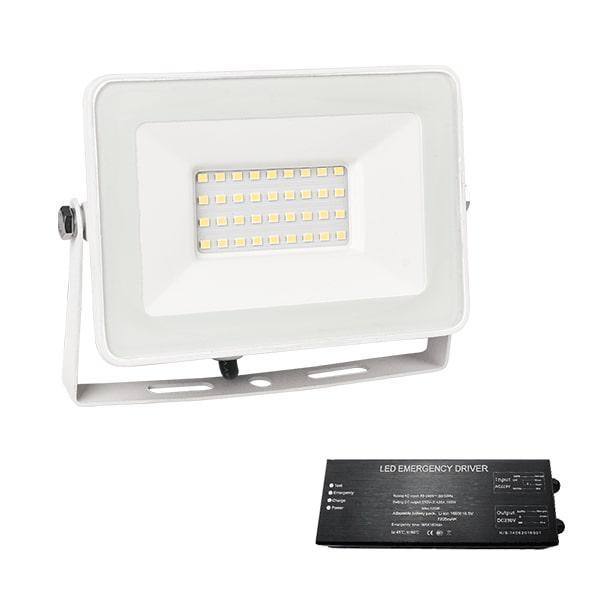 Led reflektor 30 W VEGA fehér 4000K+biztonsági világitás