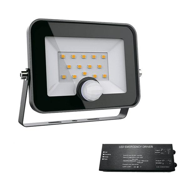 Led reflektor 30 W VEGA fekete 5500K+biztonsági világitás szenzorral