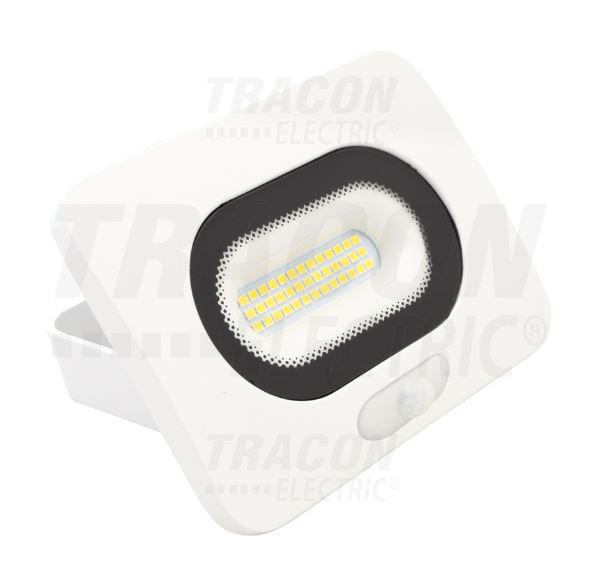 Led reflektor 50 W természetes fehér (fehér ház) mozgásérzékelővel