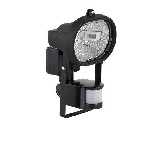 Led reflektor 7,5 W természetes fehér (fekete ház) mozgásérzékelővel