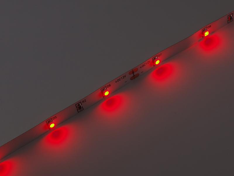 Led szalag SMD3528 2,4W/m 30led/m beltéri piros