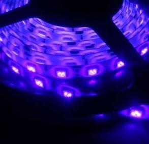 Led szalag SMD5050 UV-A (ultraibolya) 60 led/m 14,4W/m beltéri