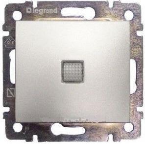 Legrand Valena 1 pólusú kapcsoló jelzőfény alumínium