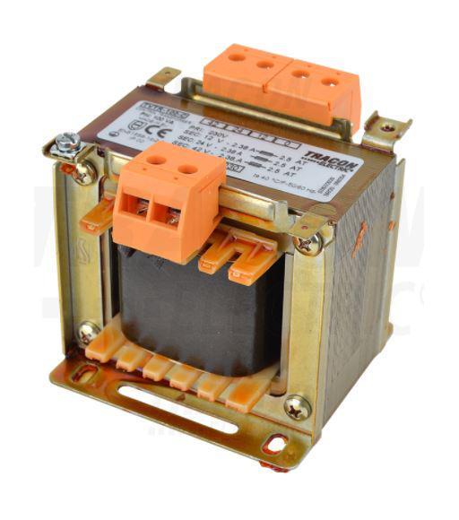 Leválasztó transzformátor 230V / 12-24-42V, max.100VA