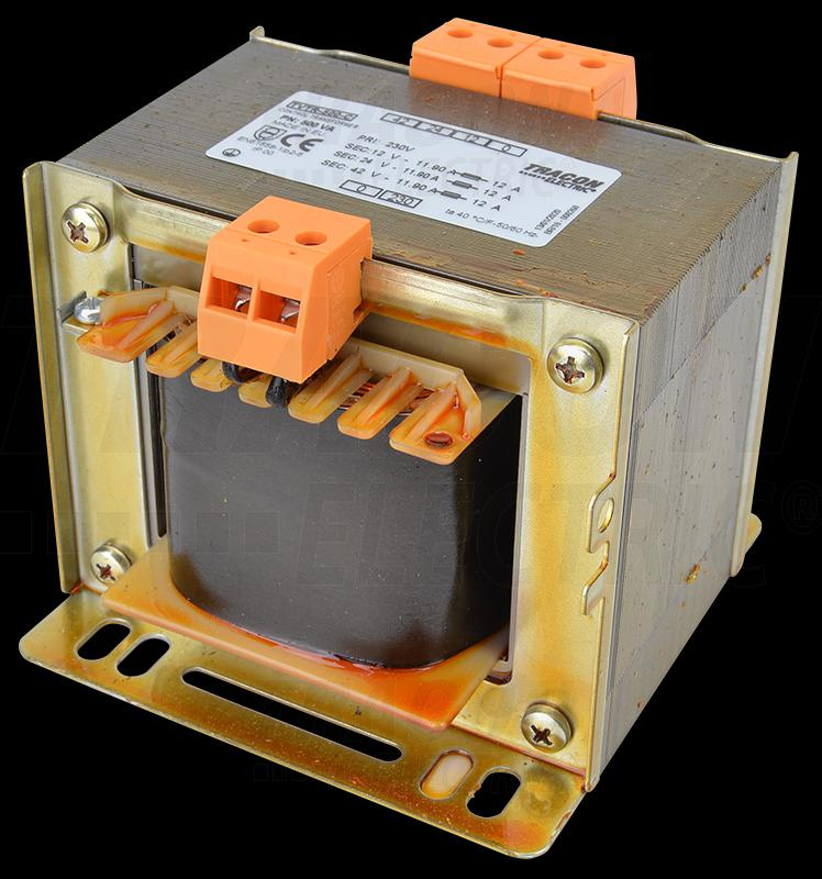 Leválasztó transzformátor 230V / 12-24-42V, max.500VA