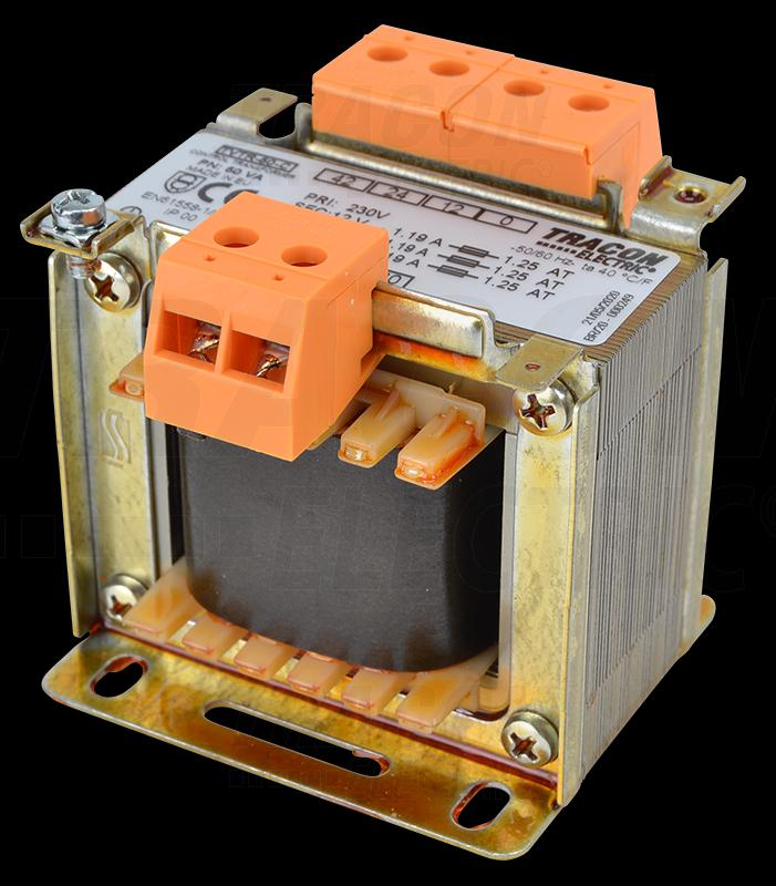 Leválasztó transzformátor 230V / 12-24-42V, max.50VA