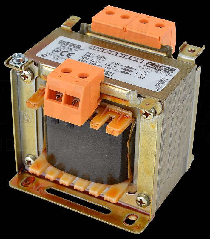 Leválasztó transzformátor 230V / 24-42-110V, max.100VA