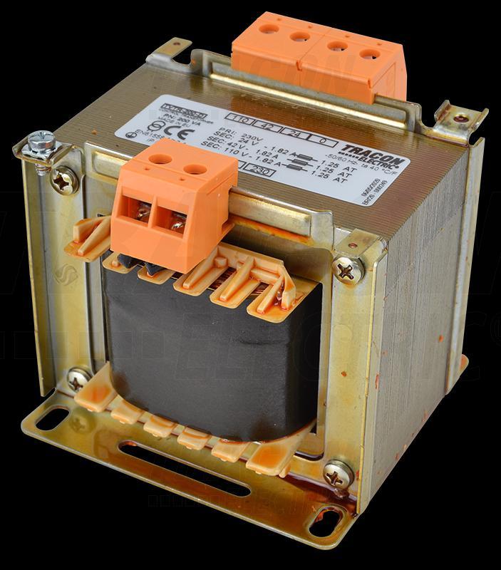 Leválasztó transzformátor 230V / 24-42-110V, max.250VA