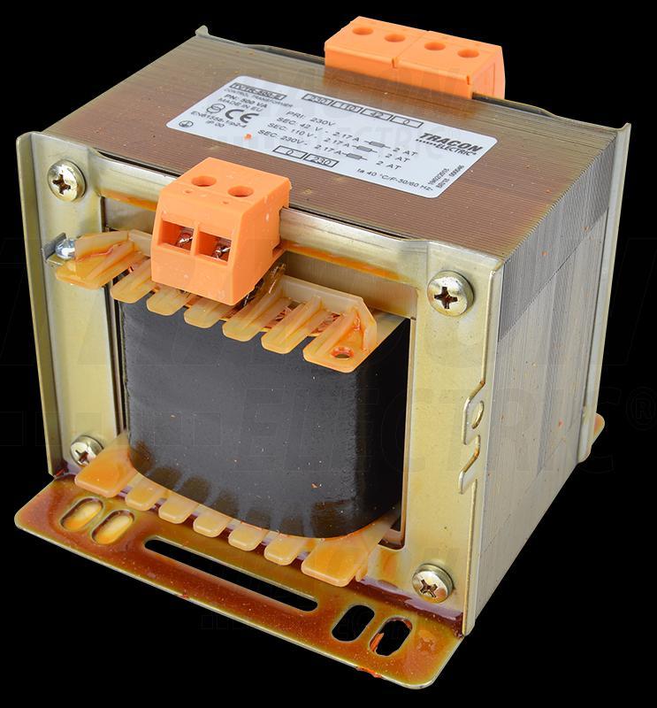 Leválasztó transzformátor 230V / 42-110-230V, max.400VA