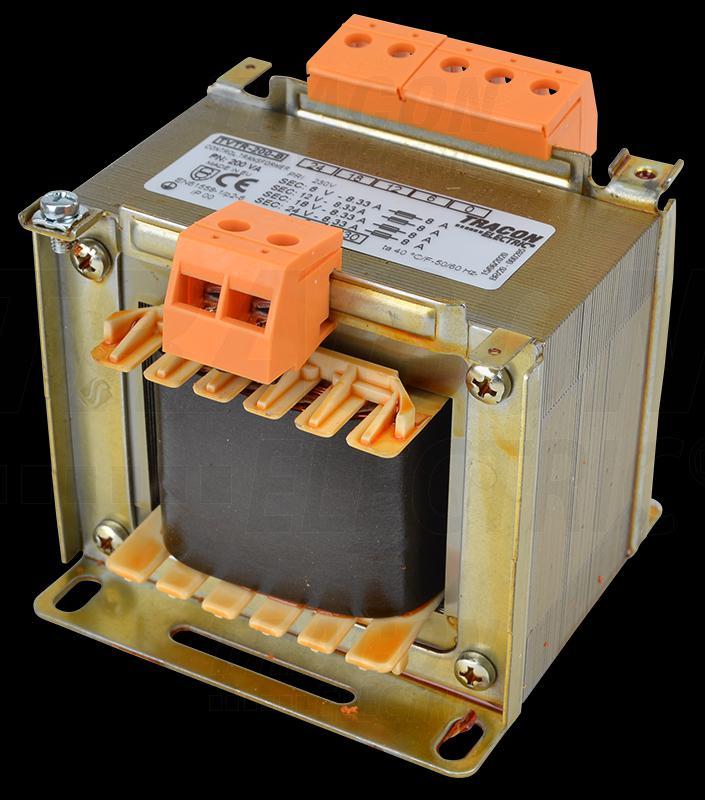 Leválasztó transzformátor 230V / 6-12-18-24V, max.250VA