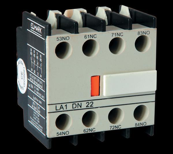 Mágneskapcsoló segédérintkező előlapi D széria 4 nyitó