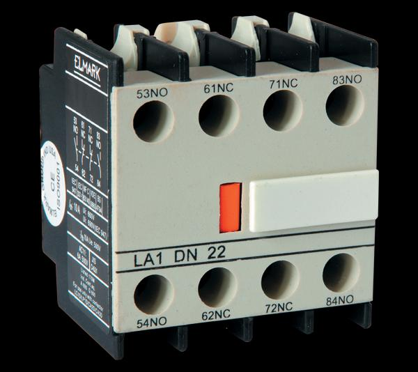 Mágneskapcsoló segédérintkező előlapi K széria 2 nyitó 2 záró