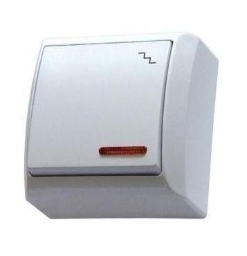 Mini falon kívüli alternatív kapcsoló(106) jelzőfényes fehér