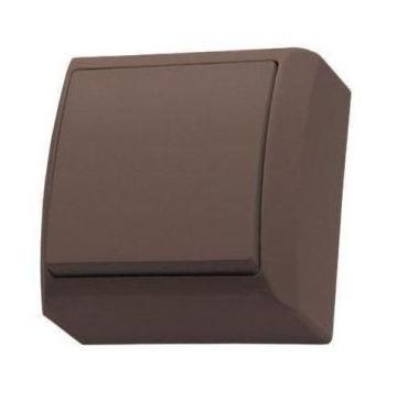 Mini falon kívüli egypólusú kapcsoló(101) barna