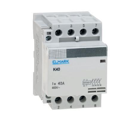 Moduláris mágneskapcsoló 40A 4 érintkezős 230VAC 2NO és 2NC