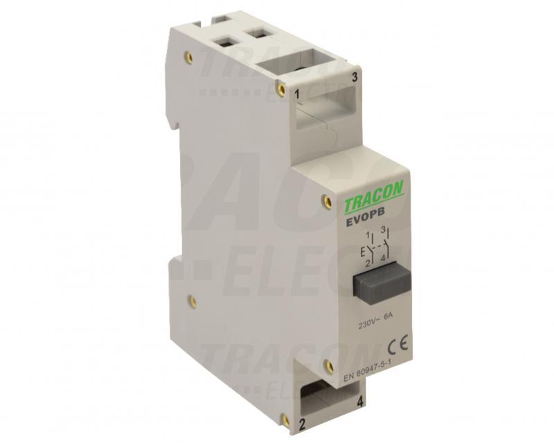 Moduláris nyomókapcsoló sínre szerelhető 230V Fehér