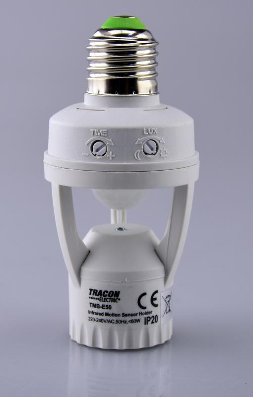 Mozgásérzékelő adapter, infra, E27 foglalatba