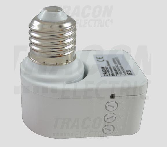 Mozgásérzékelő adapter, mikrohullámú E27, foglalatba