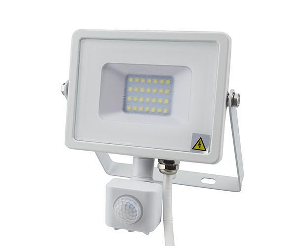 Mozgásérzékelős PRO LED reflektor hideg fehér 10W/100° IP65