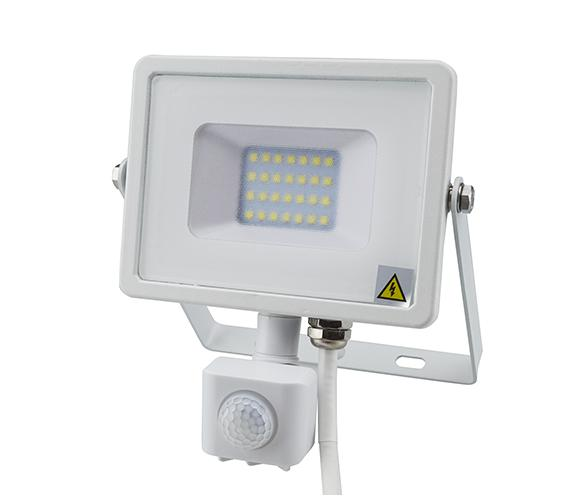 Mozgásérzékelős PRO LED reflektor hideg fehér 20W/100° IP65
