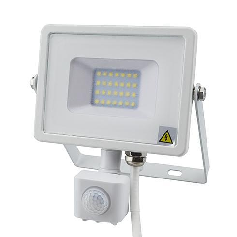 Mozgásérzékelős PRO LED reflektor Meleg fehér 20W/100° IP65