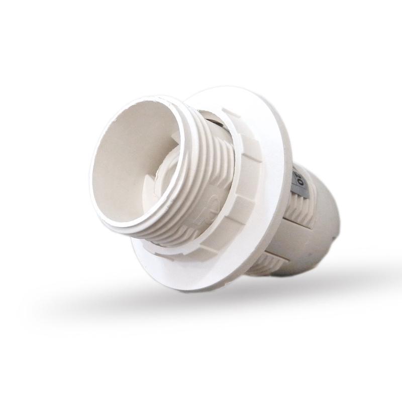 Műanyag csillár foglalat E14 Fehér