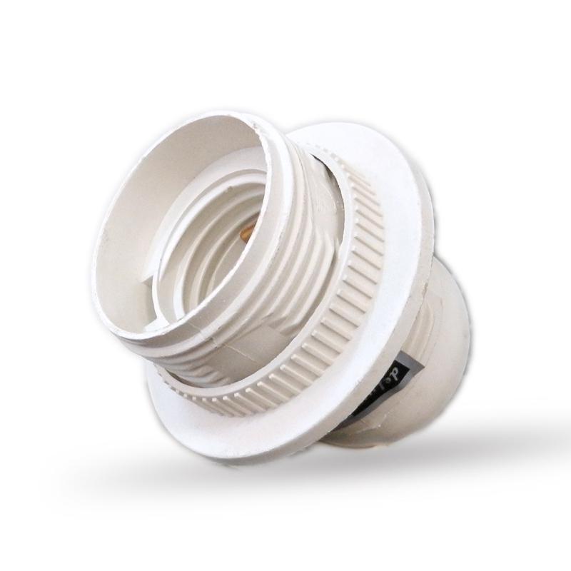 Műanyag csillár foglalat E27 fehér