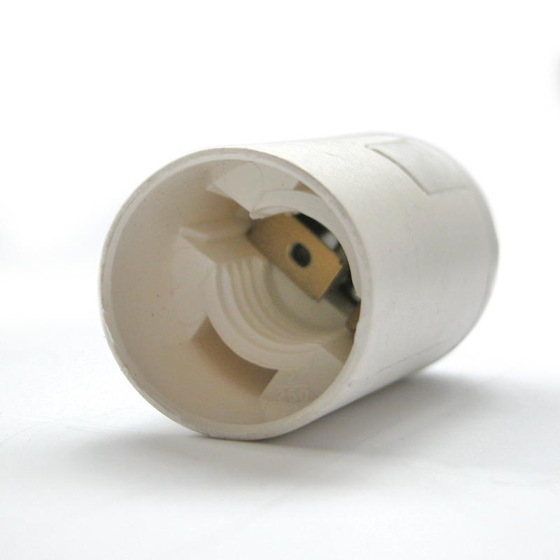Műanyag foglalat E14 fehér