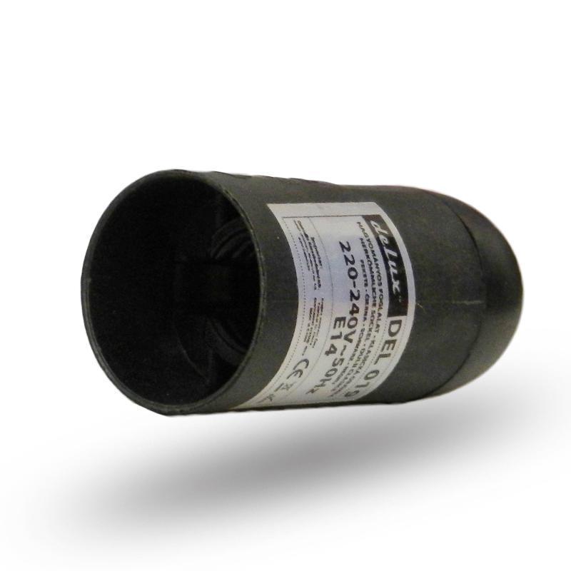 Műanyag foglalat E14 fekete