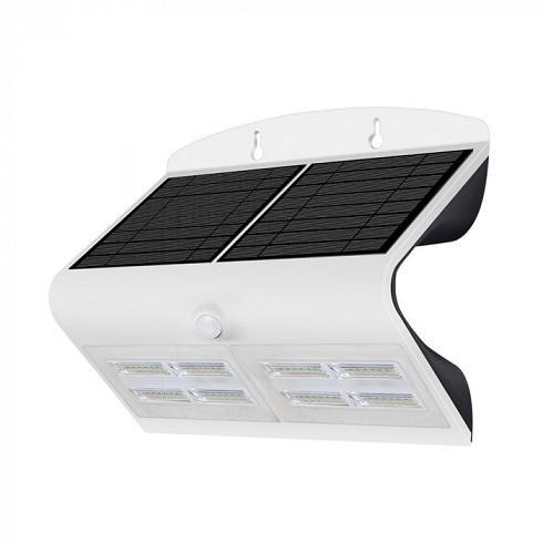 Napelemes fehér oldalfali lámpa 7 Watt 4000+4000K
