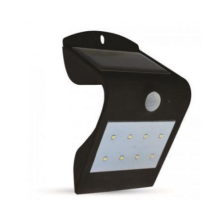 Napelemes oldalfali lámpa 1.5 Watt fekete 4000+4000K