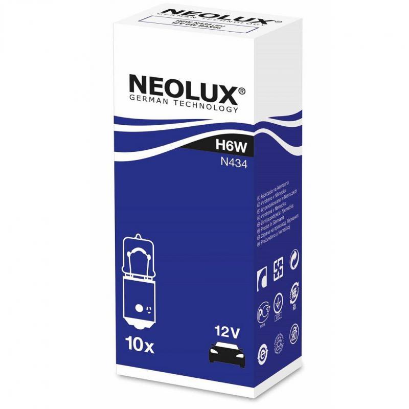 Neolux 12V H6W BAX9S autó izzó